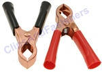 50 Amp Test Clips Black And Red Insulation