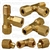 Brass Male Run Tee 1/4 Tube Size 1/8 Thread