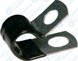 Closed Clamp 2 I.D. - Galvanized Vinyl Coated