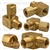 Brass Adapter Tee 3/16 Tube Size 1/8 Thread