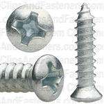 Phillips Oval Hd Tap Screw #8 X 3/4 Zinc #6 Hd