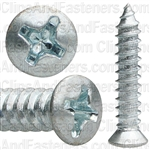 Phillips Oval Tap Screw 8 X 7/8 Zinc #6 Head