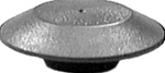 Flush Sheet Metal Plug 2-1/2 Hole Black