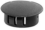 Black Nylon Locking Hole Plug 1/2