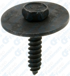 M4.2-1.41 X 20mm Hex Hd Sems Tap Screw Black