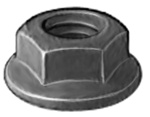 Hex Flange Nut M5-.8 Black Oxide