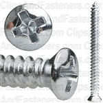Phil Oval #6 Hd Tap Screw 8 X 1 3/4 Chrome Ab