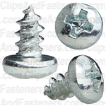 Phillips Pan Hd Tap Screw 6 X 1/4 Zinc Ab