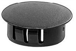 "Black Nylon Locking Hole Plug 1-1/32"" Hole Diameter"