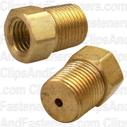 Brass Male Connector 1/8 Tube Size 1/8 Thread