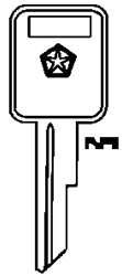 Chrysler Key Blank Groove: #60 - B&S 321074