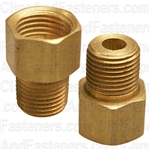 Brass Male Connector 1/4 Tube Size 1/8 Thread