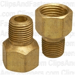 Brass Male Connector 5/16 Tube Size 1/8 Thread