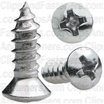 Phillips Oval #6 Head Tap Screw 8X 1/2 Chrome