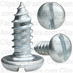 "#14 X 5/8"" Zinc Slotted Pan Head Tapping Screws"