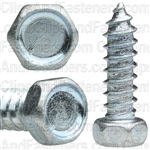 "#12 X 3/4"" Indented Hex Head Tapping Screws Zinc"