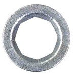 "5/8"" Stud Flat Push-On Retainer 1"" O.D. Zinc"