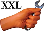 XX-Large Tiger Grip Chemical Resistant Hi-Vis Orange Nitrile Disposable Gloves