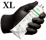X-Large Grease Bully Chemical Resistant Black Nitrile Disposable Gloves