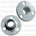 3/8-16 X 1/2 Teenut Fastener Round Base 3 Rivet or Nail Holes
