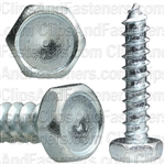 "#14 X 1-1/4"" Indented Hex Head Tapping Screws Zinc"