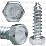 "5/16"" X 1-1/4"" Indented Hex Head Tapping Screws Zinc"
