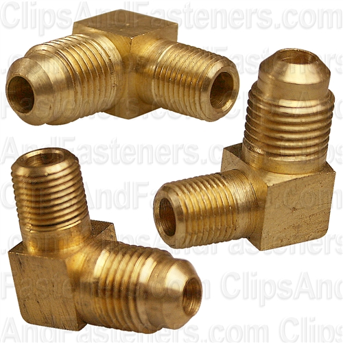 Brass Male Elbow 5/16 Tube Size 1/8 Thread