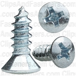 #8 X 1/2 Phillips Oval Head Tap Screw Zinc