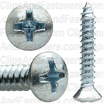 #8 X 1 Phillips Oval Head Tap Screw Zinc