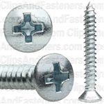 #8 X 1-1/4 Phillips Oval Head Tap Screw Zinc