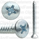 #8 X 1 1/2 Phillips Oval Head Tap Screw Zinc