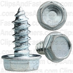 #10 X 1/2 Ind. Hex Hd Tap Screw 5/16 Hex Zinc