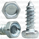"#8 X 1/2"" Indented Hex Head Tapping Screws Zinc"