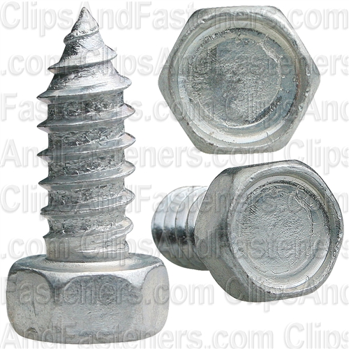 "#14 X 5/8"" Indented Hex Head Tapping Screws Zinc"
