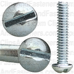 6-32 X 3/4 Slotted Round Hd Machine Screw Zinc