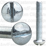 8-32 X 1 Slotted Round Hd Machine Screw Zinc