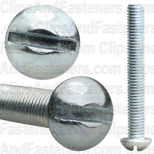 10-32 X 1 1/2 Slotted Round Hd Machine Screw Zinc