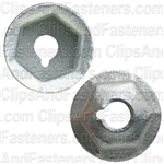"#8-32 Washer Lock Nut 15/32"" O.D. 11/32"" Hex Zinc"