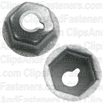 "#10-24 Washer Lock Nut  1/2"" O.D. 3/8"" Hex Zinc"