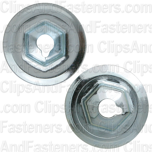 "#10-24 Washer Lock Nut 3/4"" O.D. 3/8"" Hex Zinc"