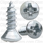 6 X 1/2 Phillips Oval Head Tap Screw Zinc