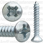 No 6 X 7/8 Phillips Oval Head Tap Screw Zinc