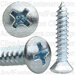 No8 X 7/8 Phillips Oval Head Tap Screw Zinc