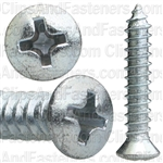 #10 X 1 W/ #8Hd Phillips Oval Head Tap Screw Zinc