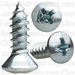 No 10 X 5/8 Phillips Oval Head Tap Screw Zinc