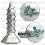 #10 X 3/4 Phillips Oval Head Tap Screw Zinc