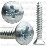 No 10 X 1 1/4 Phillips Oval Head Tap Screw Zinc