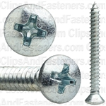 No 10 X 1 3/4 Phillips Oval Head Tap Screw Zinc