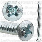 8 X 2 #6 Head Phillips Oval Head Tap Screw Zinc