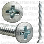 8 X 2 Phillips Oval Head Tap Screw Zinc